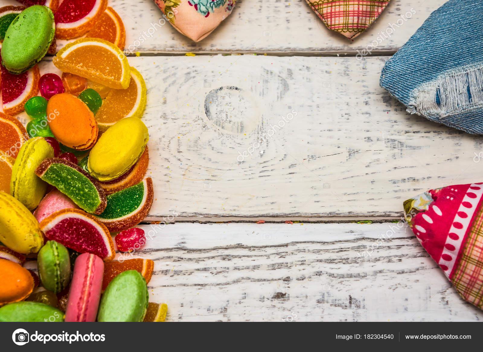 marco de dulces para tarjetas de felicitación, dulces en el fondo ...