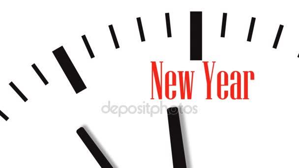 Animáció, az új év visszaszámlálás óra