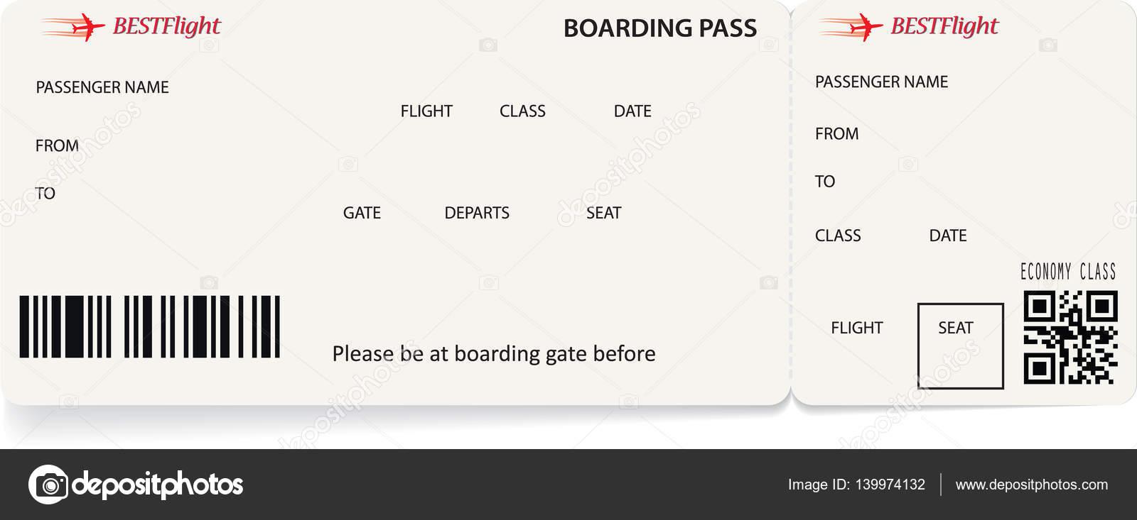 Vector Template Of Boarding Pass Tickets Stock Vector C Orelphoto2 139974132