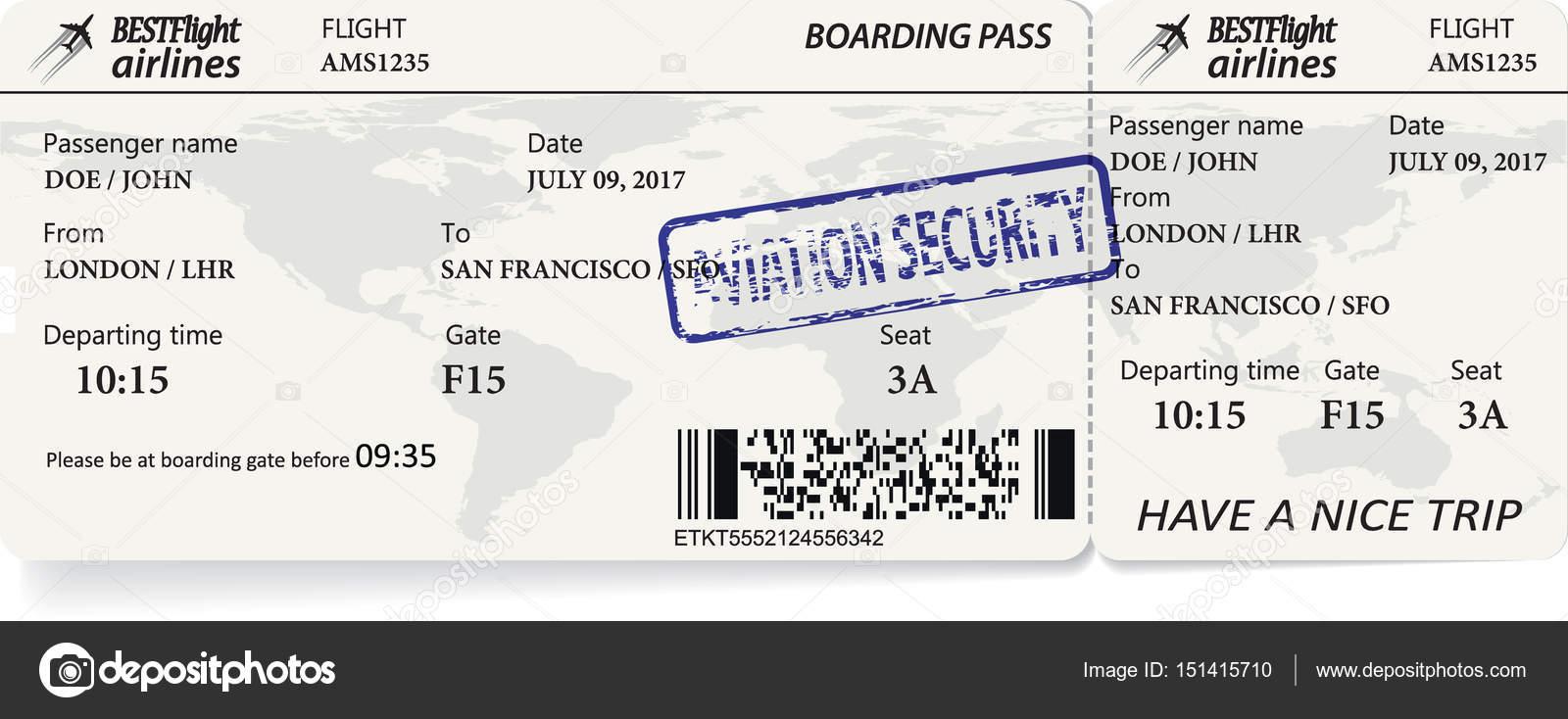 Vektor Vorlage der boarding Pass tickets — Stockvektor © orelphoto2 ...