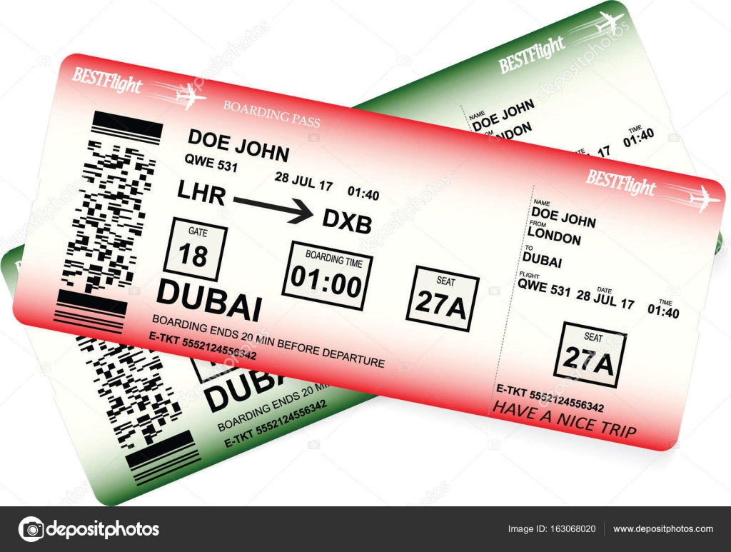 Vektor Vorlage der boarding Pass tickets — Stockvektor ...