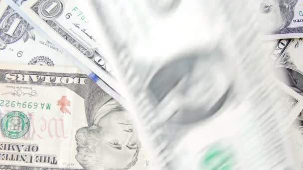 Dolar účty peníze pozadí. UltraHD videa