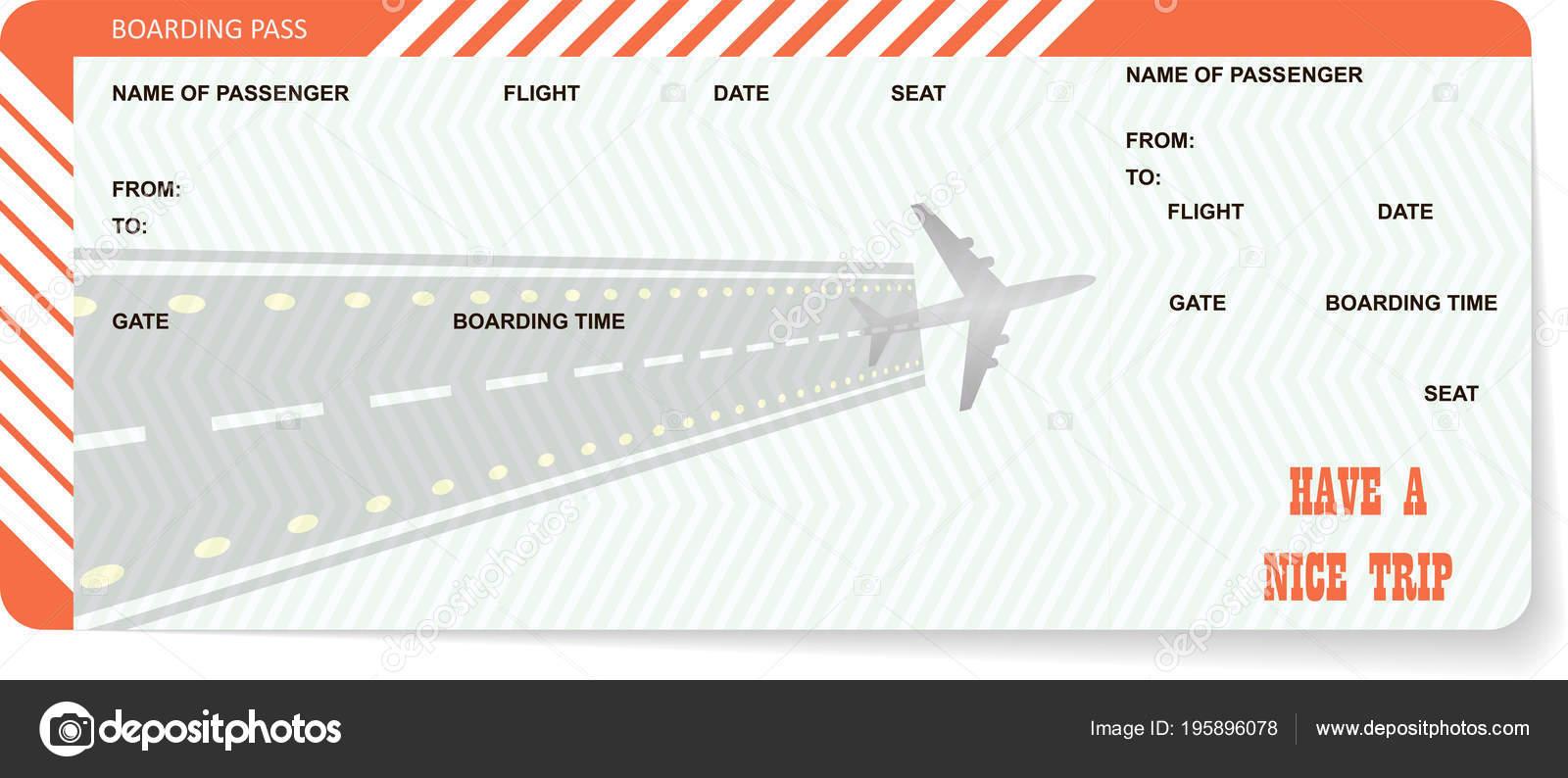 Flugticket leer. Orange-boarding-pass — Stockvektor © orelphoto2 ...