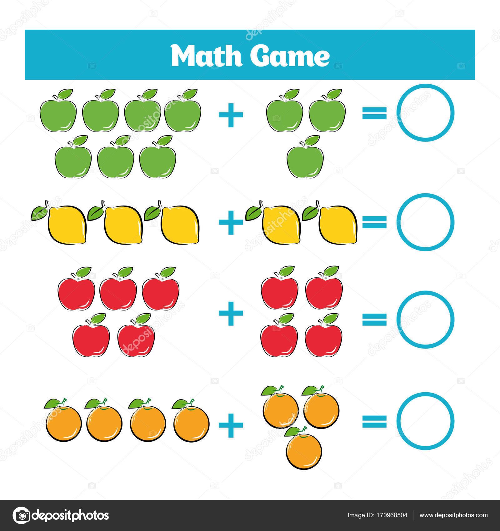 Juego educativo de matemáticas para niños. Aprendiendo hoja de ...