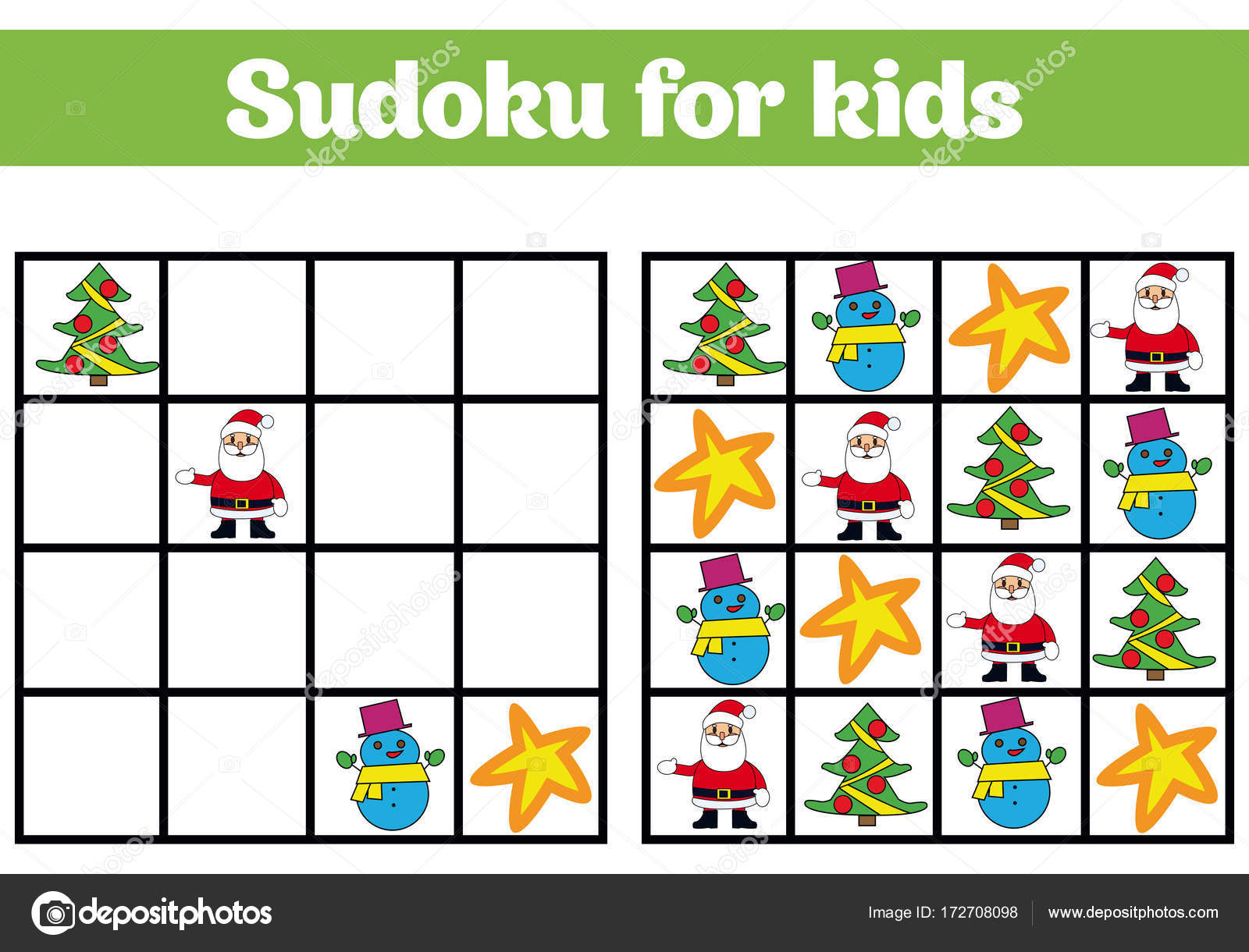 Sudoku Juego Para Ninos Con Imagenes Logica De Juego Para Ninos En