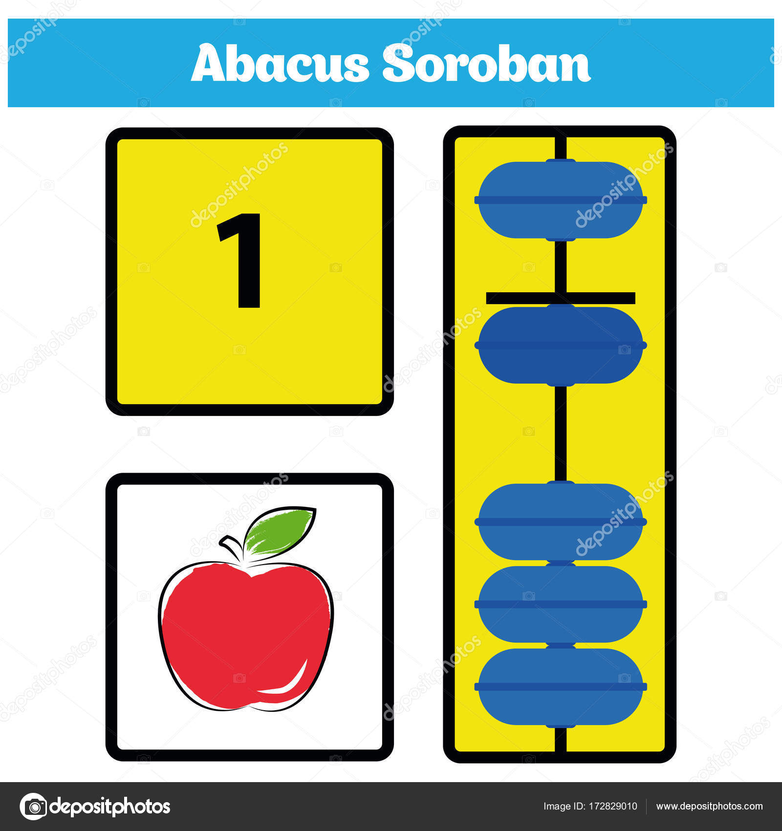 worksheet Abacus Math Worksheets Free abacus soroban kids learn numbers with math worksheet for children vector illustration by artalexandrf y