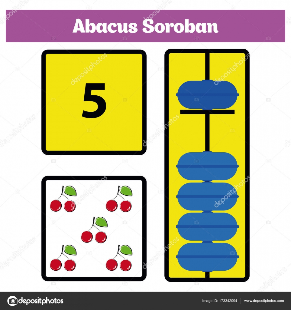 Abacus Soroban kids learn numbers with abacus, math worksheet for ...