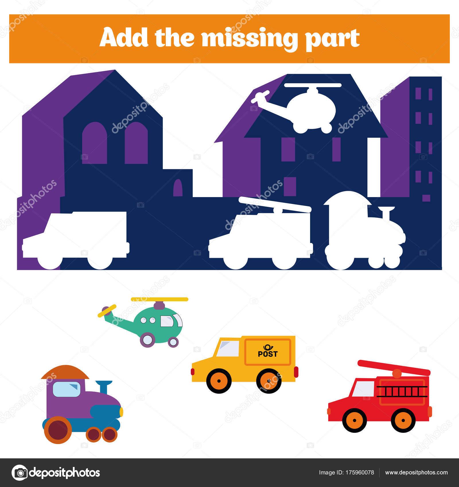 Puzzle-Spiel. Visuelle Lernspiel für Kinder. Aufgabe: ermitteln Sie ...
