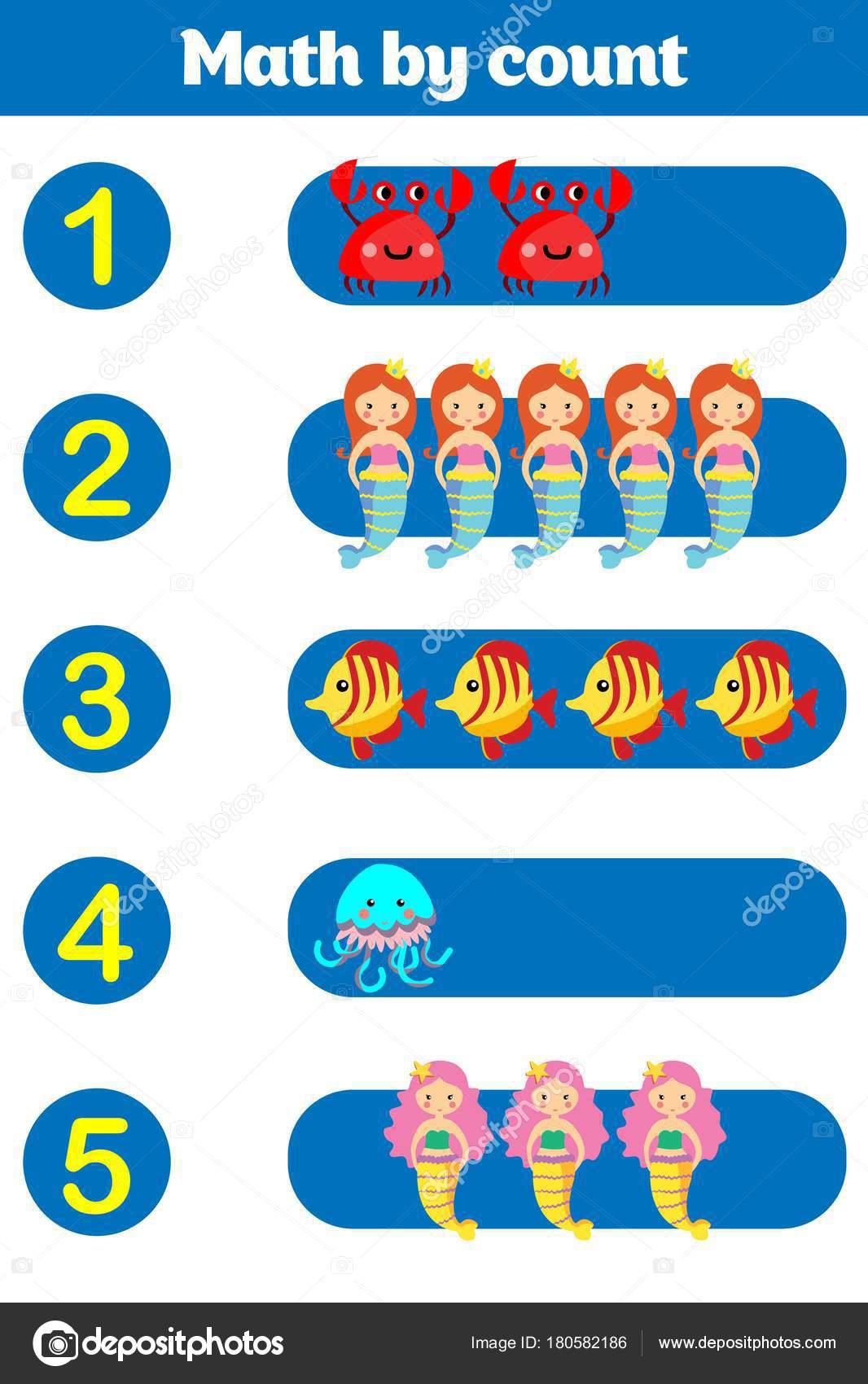 Spiel für Kinder im Vorschulalter zu zählen. Educational ein ...