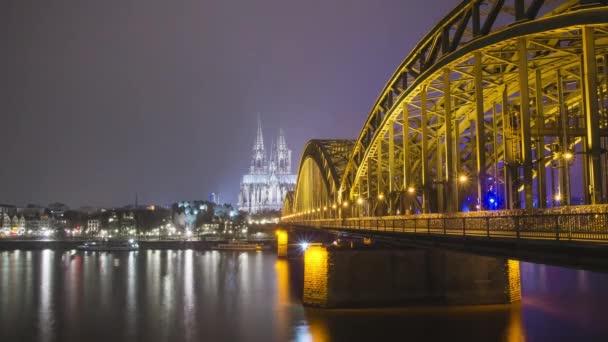 Kölner Dom und Brücke - Zeitraffer