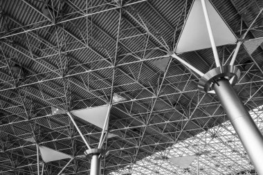 Moscow, Russia - October 2019: Vnukovo Airport from the inside, engineering structures