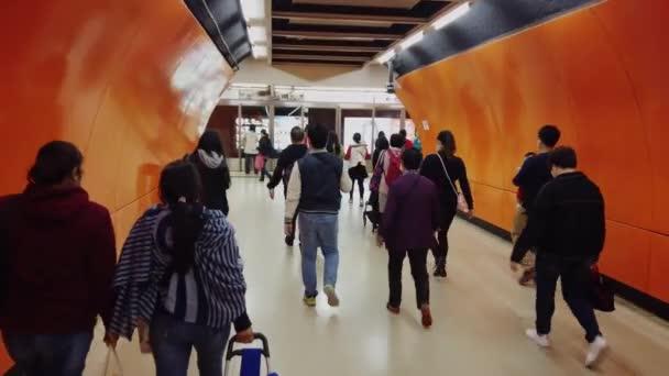 Hong Kong, China - 2020: people at the subway station