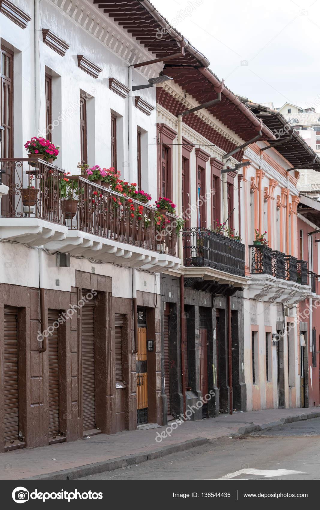 Colonial Architecture In Quito Stock Photo C Quasarphoto 136544436
