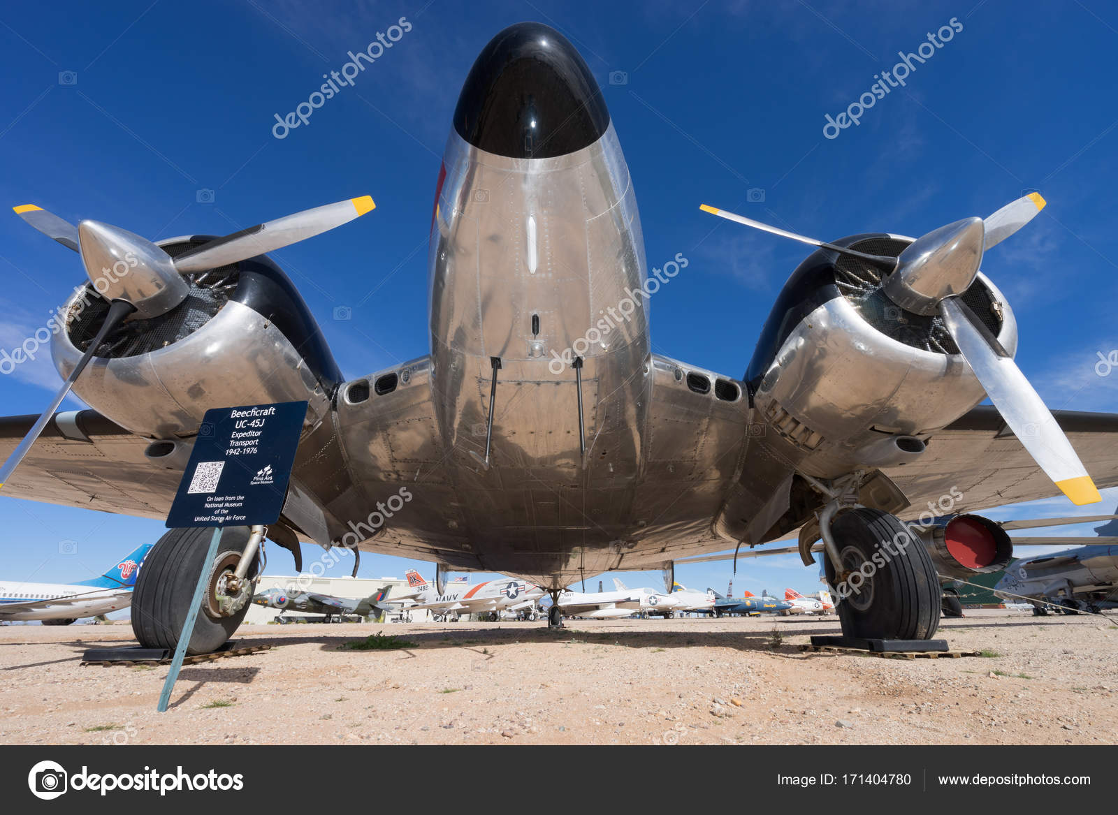 December 7 2015 Tucson Arizona Closeup Of A Vintage Aircraft On Display At The Pima Air And Space Museum Photo By Quasarphoto