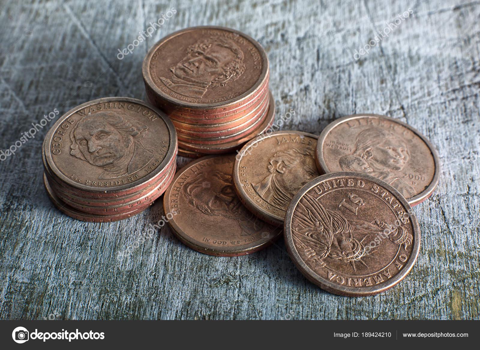 Usa 1 Dollar Münzen Redaktionelles Stockfoto Quasarphoto 189424210