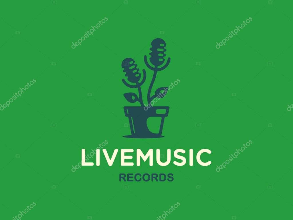 Modern vector professional sign logo live music
