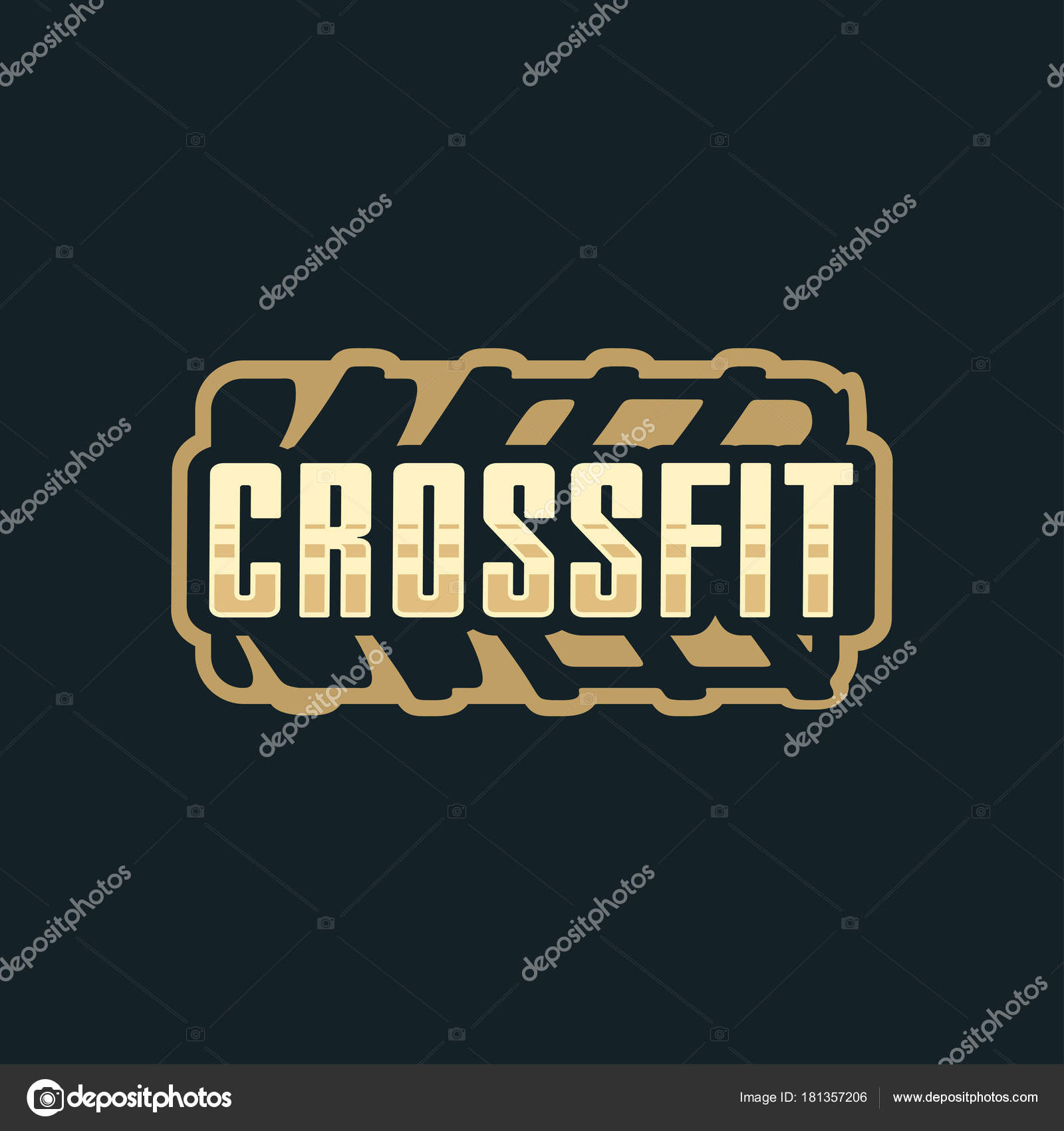 Vectorizado Logo Crossfit Moderno Vector Emblema De Logotipo