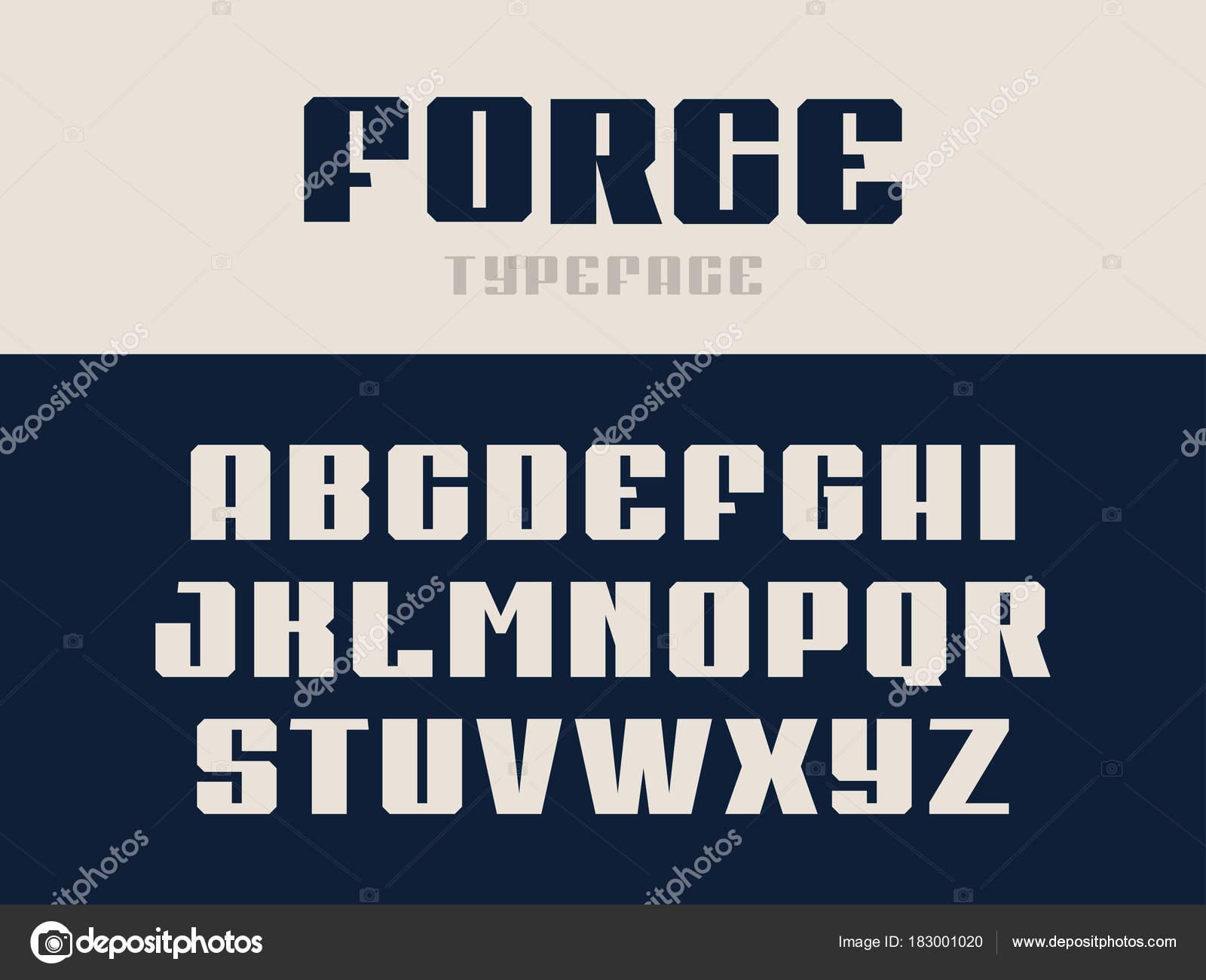 b670544ae Fonte do esporte. Alfabeto de vetor com letras de latino — Vetores de Stock
