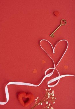 valentines heart key