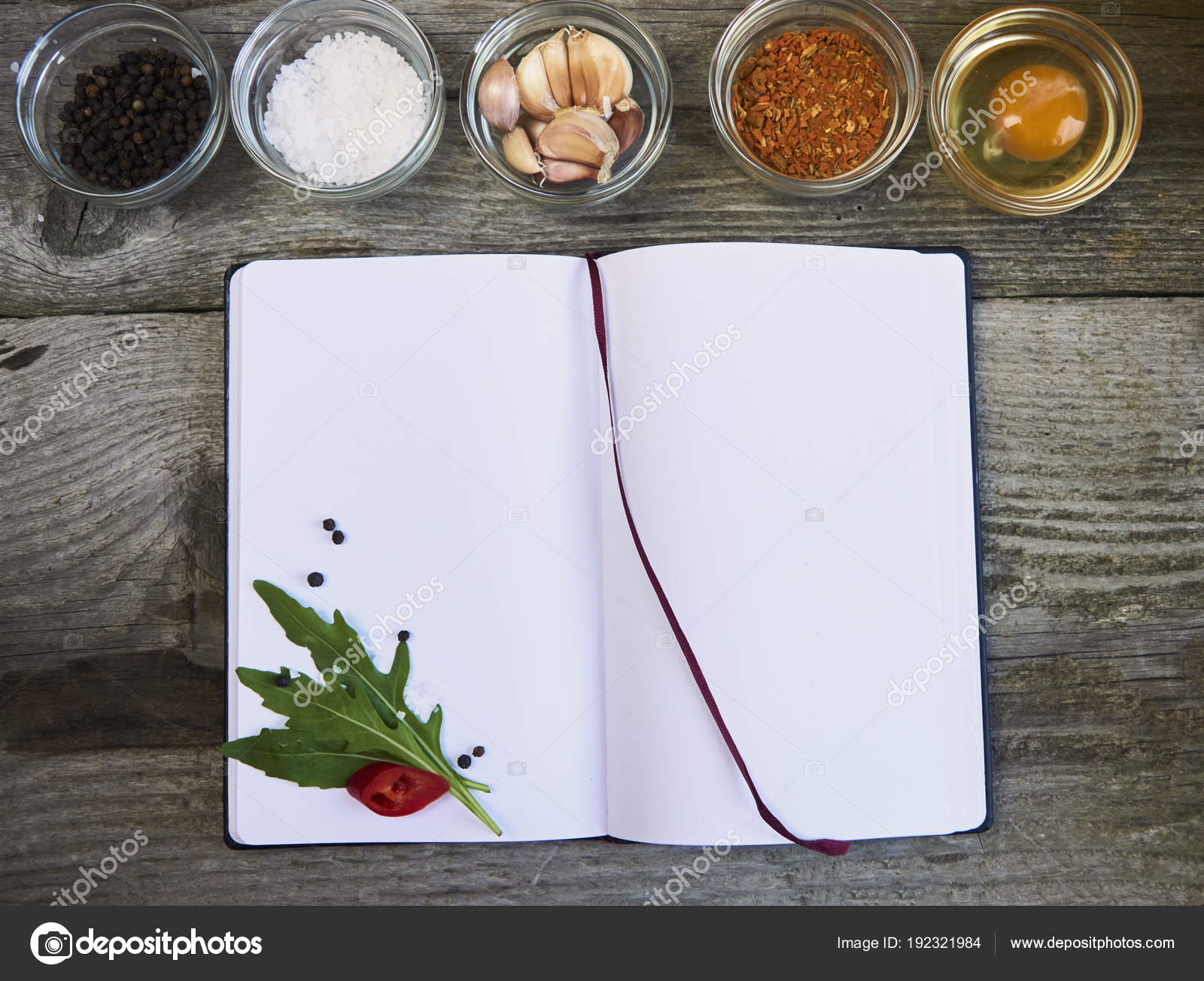 Top view open recipe book vegetables wooden background stock photo top view open recipe book vegetables wooden background stock photo forumfinder Choice Image