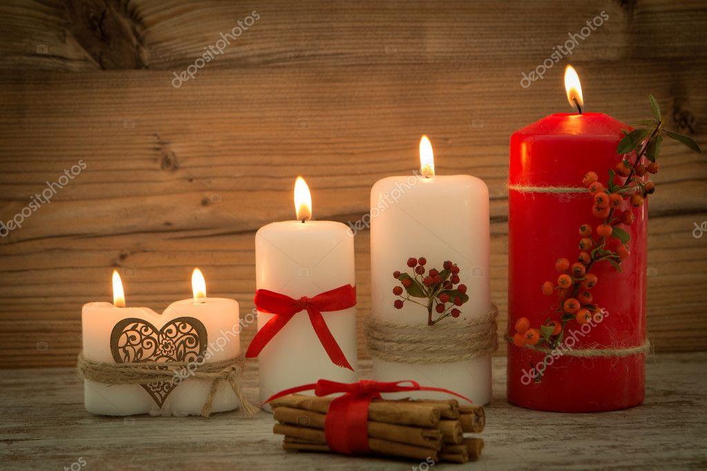 Elegantes velas decoradas para navidad fotos de stock gelpi 126735078 - Velas decoradas para navidad ...