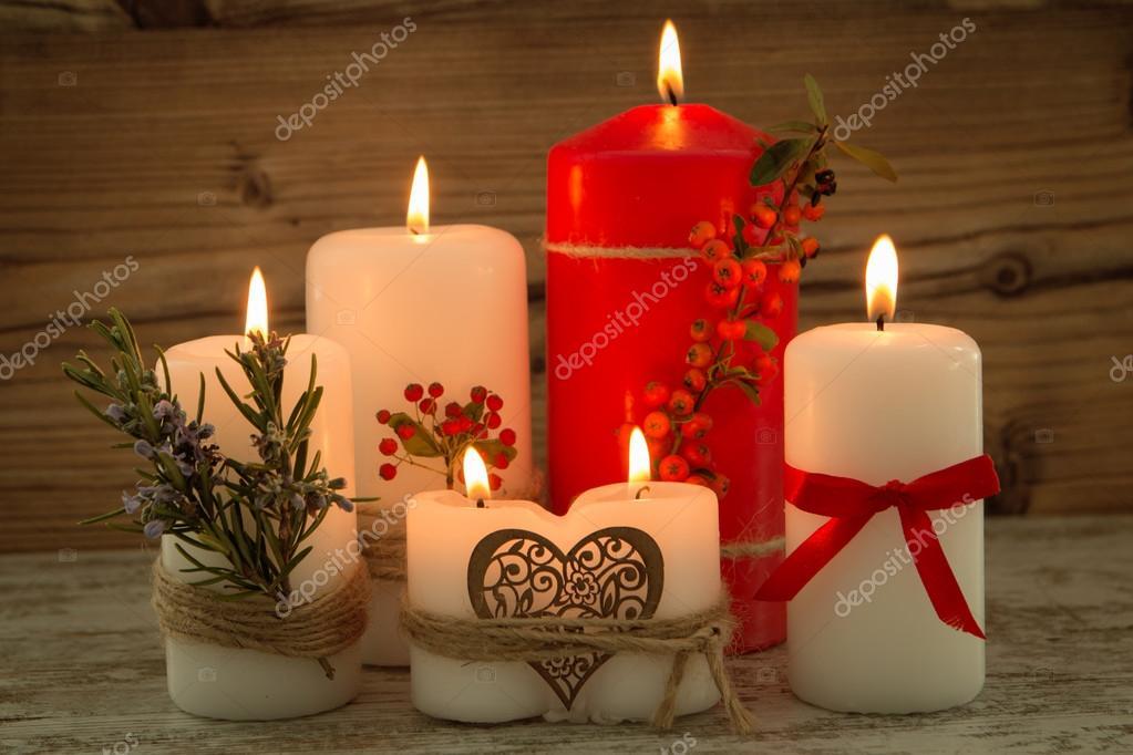 elegantes velas decoradas para navidad foto de stock - Velas Decoradas