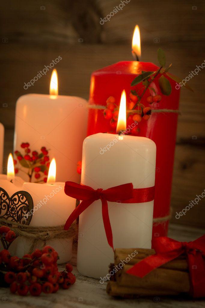 Elegantes velas decoradas para navidad foto de stock gelpi 126735236 - Velas decoradas para navidad ...