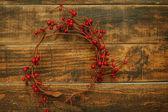 Vánoční větev s červeným ovocem