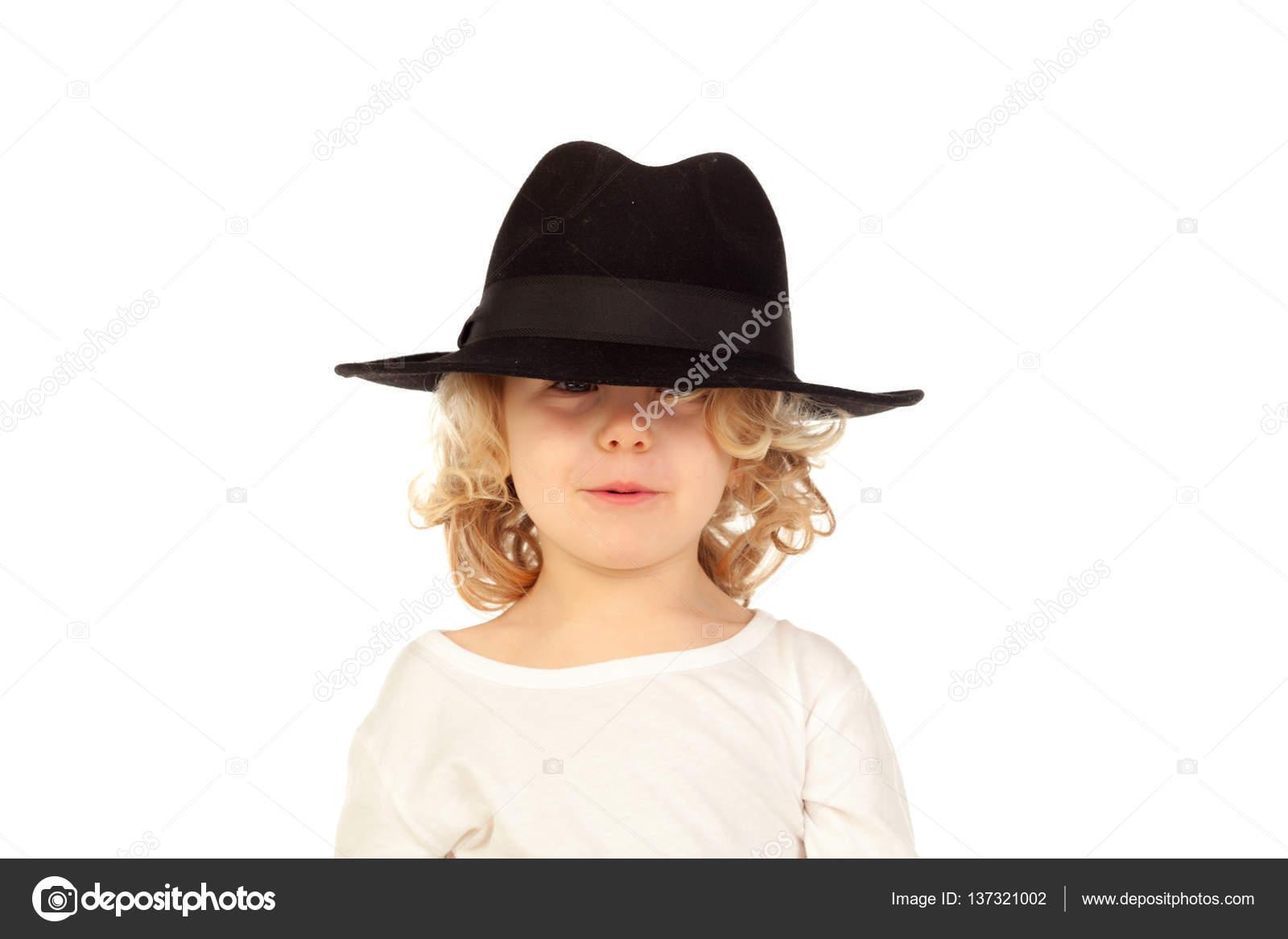 szőke gyerek viselt kalap — Stock Fotó © Gelpi  137321002 91c67c1b50