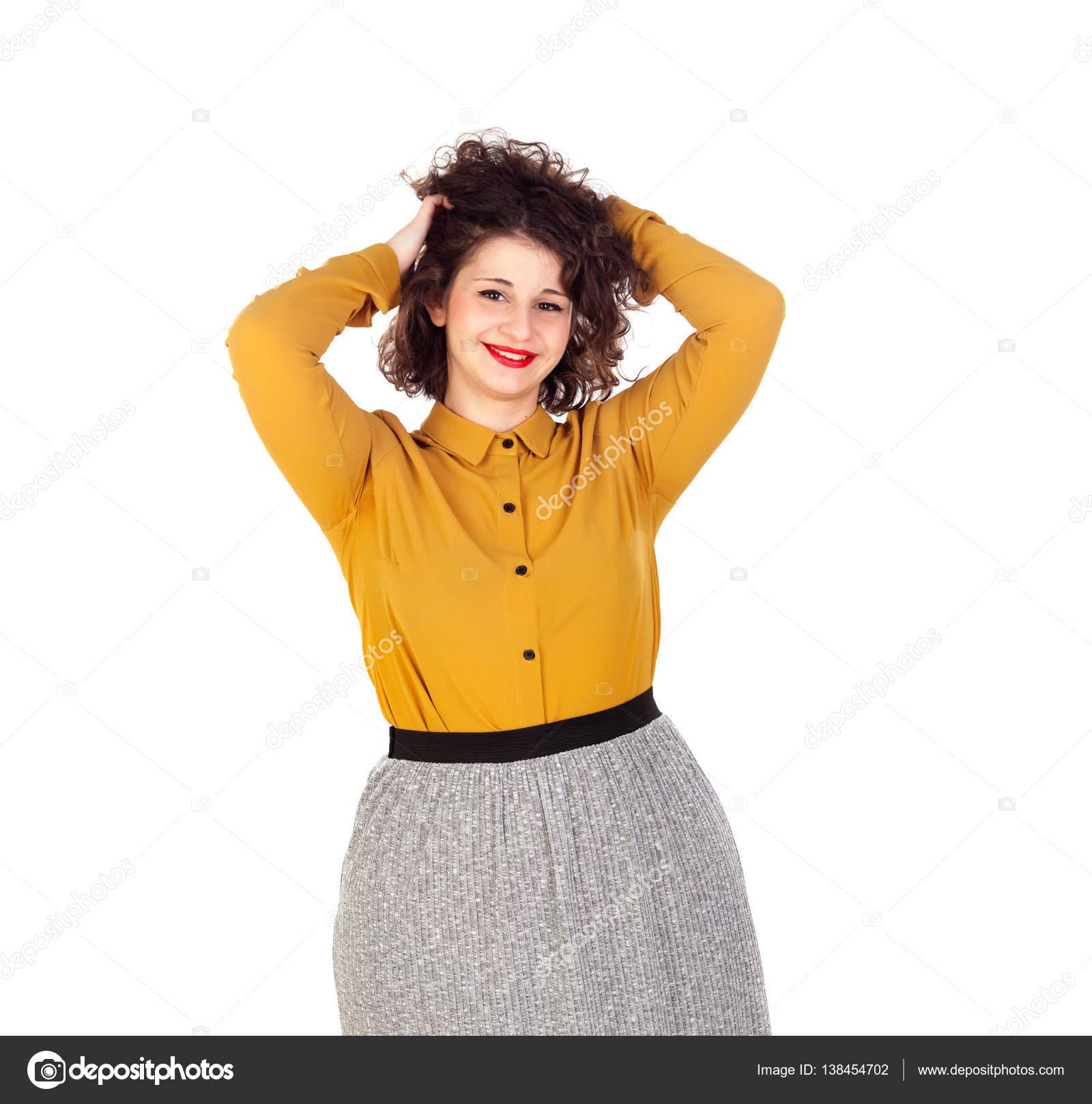 35ca5437f1c18c милі дівчата пишні — Стокове фото — жовтий © Gelpi #138454702