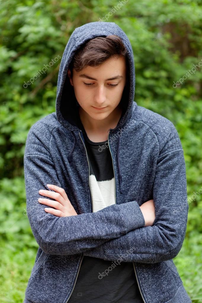 teenager boy in park