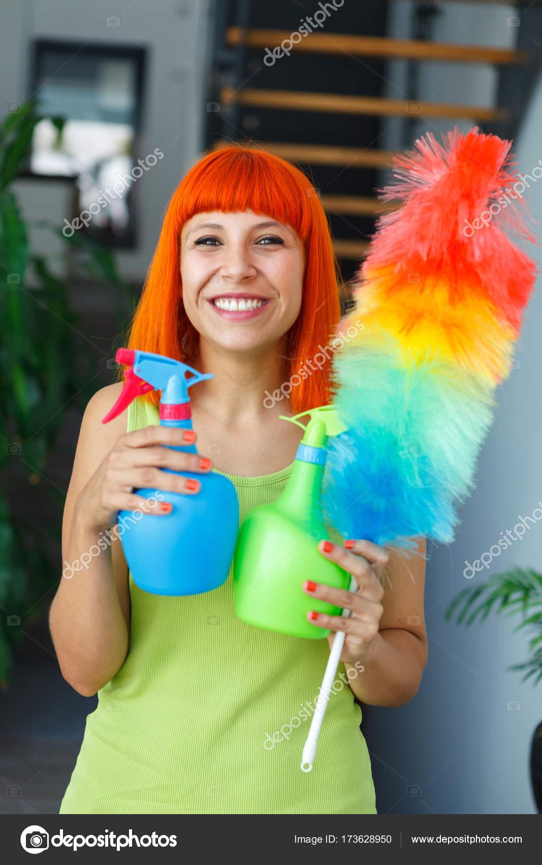 Female redhead housewife