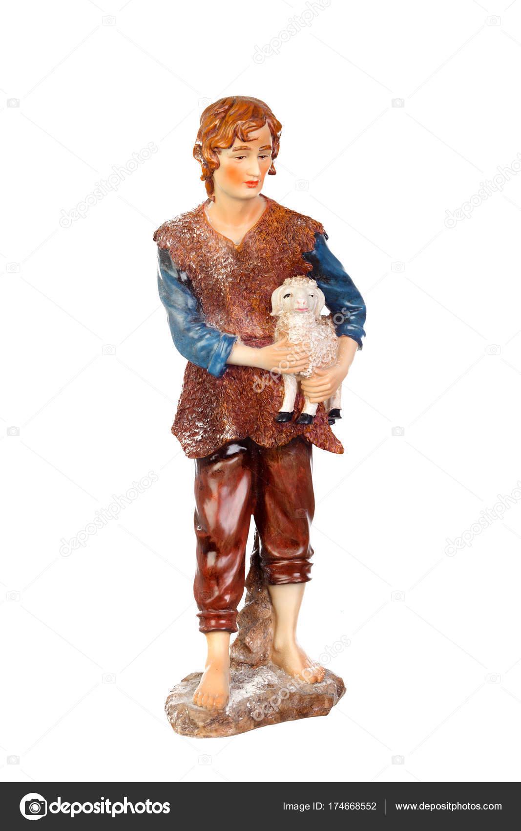 62d8d7955bb Figura de pastor con cordero — Foto de Stock
