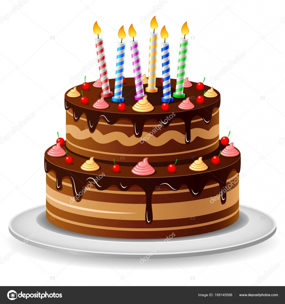 Birthday Cake With Candles Stock Vector C Mahfud Syarifudin21