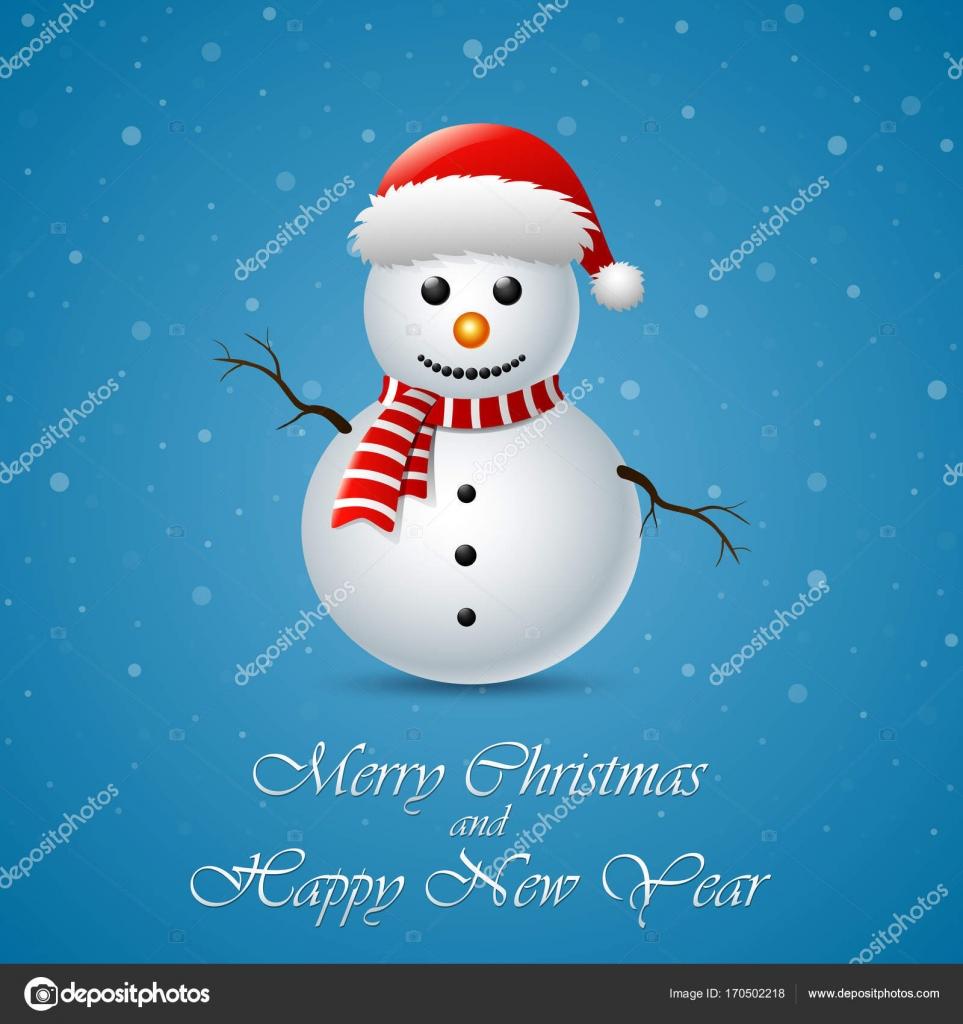 Carte De Noel Yahoo.Carte De Voeux De Joyeux Noël Bonhomme De Neige Image