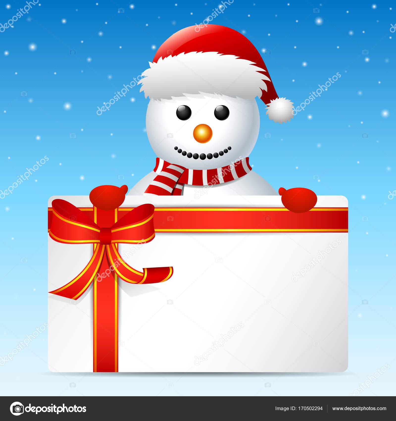 Auguri Di Buon Natale Yahoo.Cartolina D Auguri Di Buon Natale Pupazzo Di Neve Vettoriali Stock
