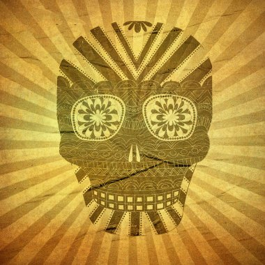 Day of The Dead grunge skull