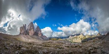 Three peaks, Dolomites mountains
