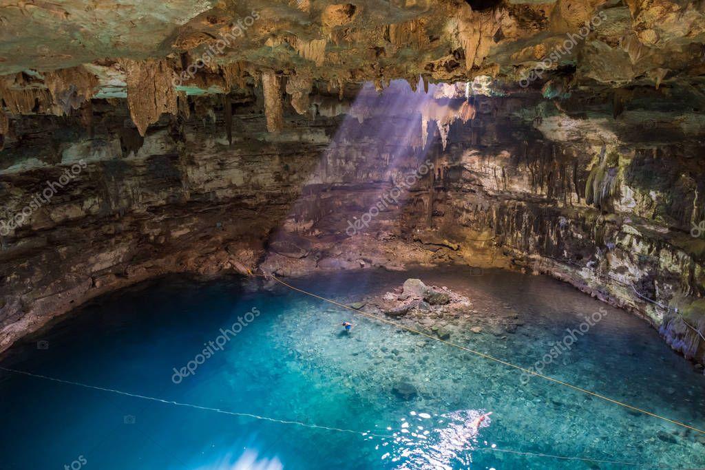 Samula cenote lagoon