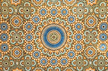 moroccan vintage ceramic tile background