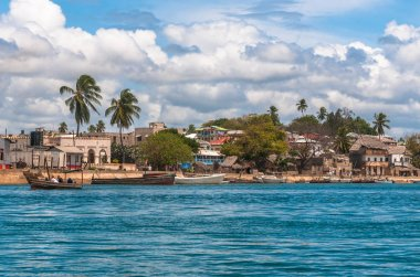 Lamu old town waterfront