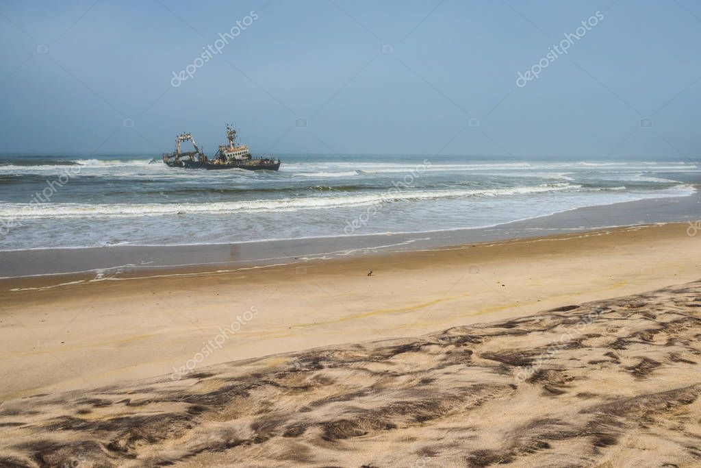 Shipwreck on beach, Skeleton Coast