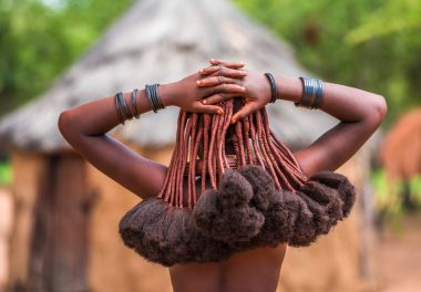 Hair style of Himba woman