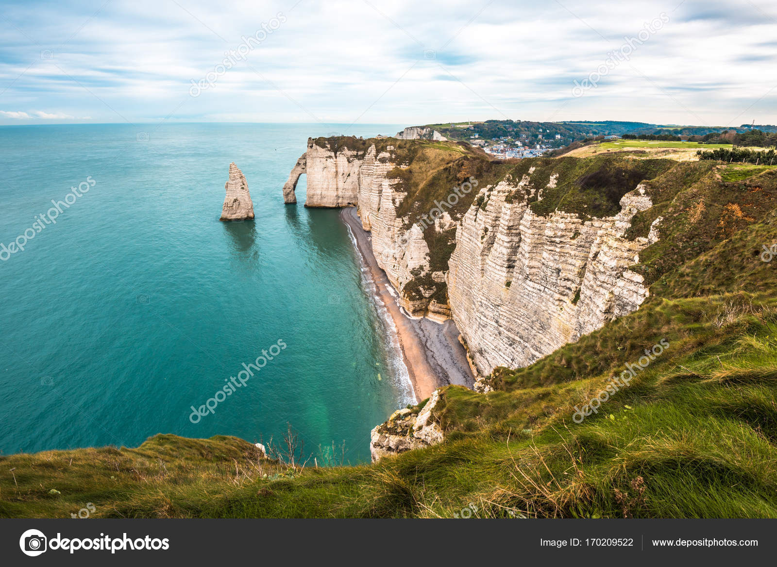 White Cliffs Of Etretat Normandy Stock Photo C Javarman 170209522