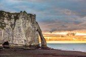 Fotografie Bílé útesy Etretat, Normandie
