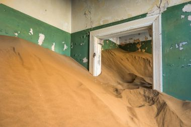 Abandoned ghost town of Kolmanskop