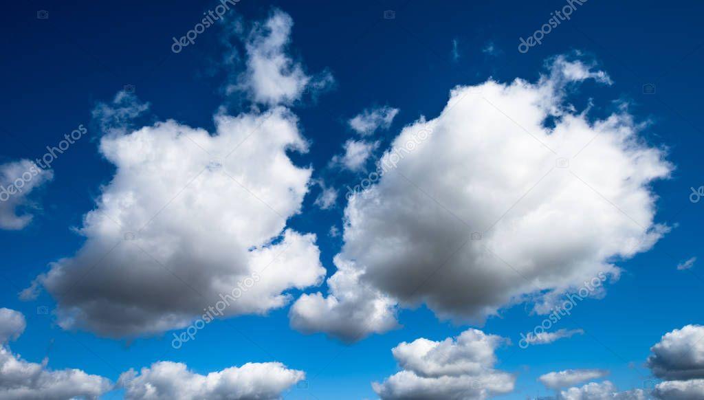 Clouds over blue sky