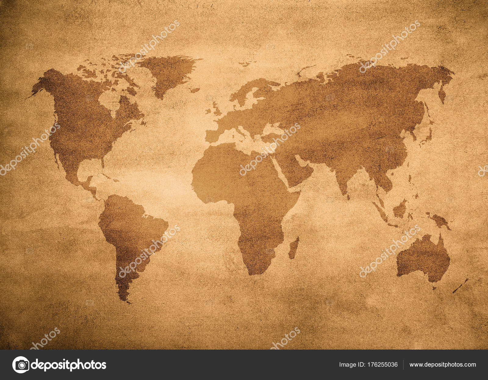 Aged map world vintage background stock photo javarman 176255036 aged map of world vintage background photo by javarman gumiabroncs Gallery