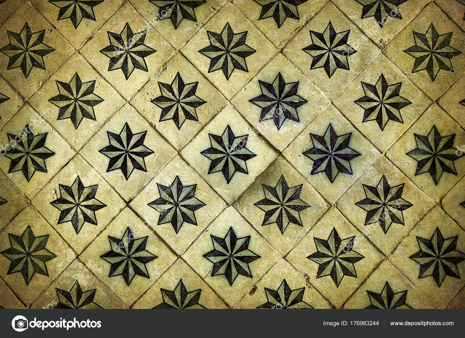 Vintage azulejos piastrelle portoghesi tradizionali u foto stock