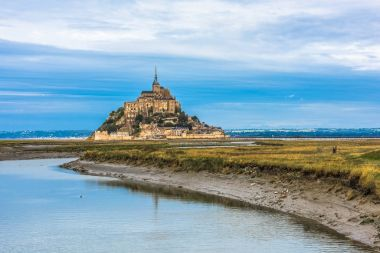 Mont-Saint-Michel, island with famous abbey, Normandy, France